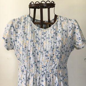 Vintage Floral Zipper Dress